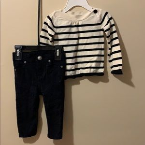Girls 2 piece outfit size 6-12 months Pants & Top